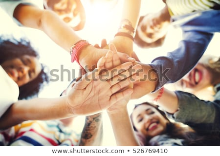 emberek · kezek · alulról · fotózva · kilátás · üzlet · nő - stock fotó © andreypopov