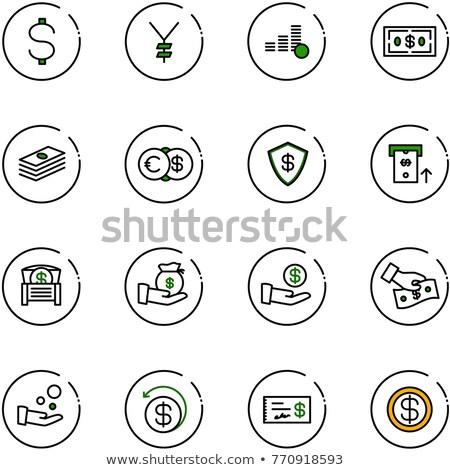 munt · ontwerp · gouden · munten · cent · geïsoleerd · witte - stockfoto © olehsvetiukha