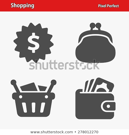 Icon of wallet with banknotes for shopping and retail concept Stock photo © ussr