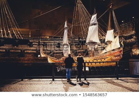 északi múzeum hajó Stockholm sziget központi Stock fotó © borisb17