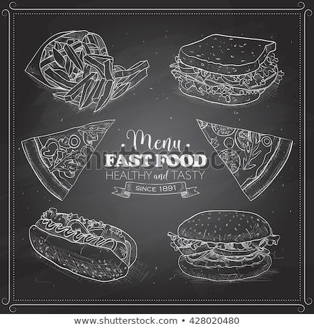 fast · food · poster · tekst · monster - stockfoto © netkov1