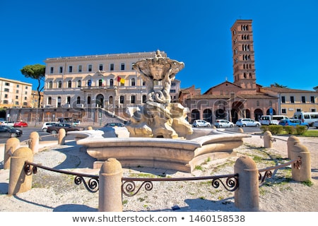 Fountain of the Tritons and Piazza della Bocca della Verita squa Stock photo © xbrchx