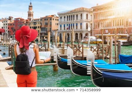 Kadın turist bakıyor Venedik şehir İtalya Stok fotoğraf © AndreyPopov