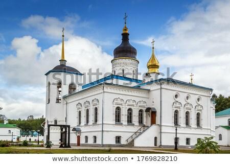 Rusland klooster noorden hemel kruis zomer Stockfoto © borisb17
