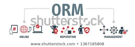 Merk banner bedrijf geloofwaardigheid Stockfoto © RAStudio