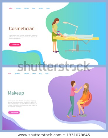 Cosmetician and Makeup Screen of Website Vector Stock photo © robuart