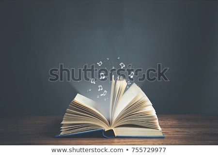 Ancient music book stock photo © lichtmeister