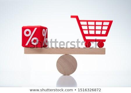 équilibre pourcentage panier bureau Photo stock © AndreyPopov