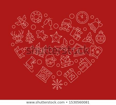 conjunto · natal · ilustração · útil · estilista - foto stock © decorwithme