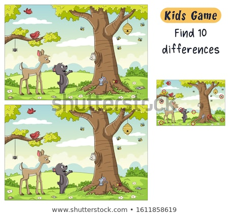 find the difference figure  educational Stock photo © Olena
