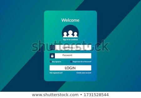 Internet · phishing · giriş · parola · güvenlik - stok fotoğraf © smoki