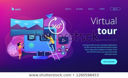 Virtual tour app interface template. Stock photo © RAStudio