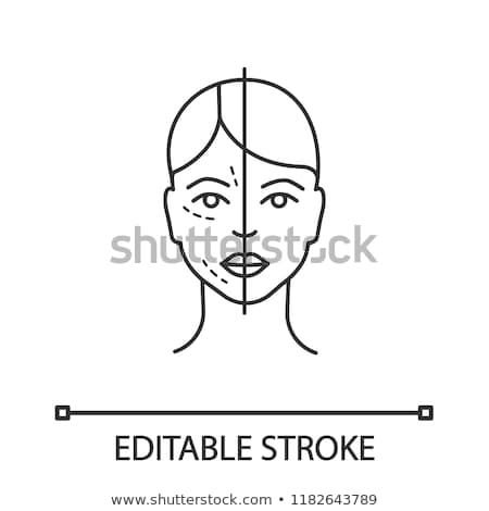 Skin Face Before and After Icon Vector Outline Illustration Stock photo © pikepicture