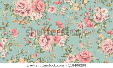 Vintage floral ornamento natureza folha preto Foto stock © AbsentA