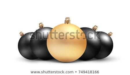 Gold christmas balls isolated on white background. Photorealistic high quality vector set of christm Stock photo © ukasz_hampel