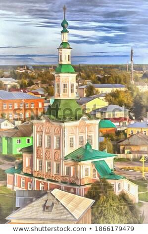 教会 ロシア 建築の 船 スタイル クロス ストックフォト © borisb17