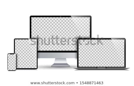 Modern model of computer screen, mock up display. Stock photo © artjazz