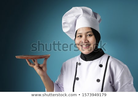 Trots vrouw chef kok keuken voedsel Stockfoto © Kzenon