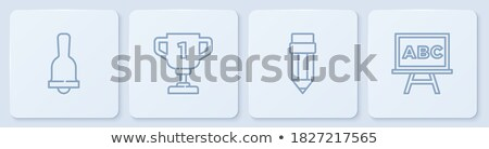 Football Champion Cup Icon Outline Illustration Stock photo © pikepicture