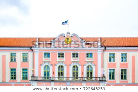 épület Tallinn Észtország parlament város kastély Stock fotó © borisb17