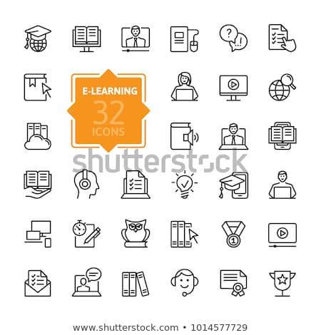 Ebook ícone vetor ilustração assinar Foto stock © pikepicture