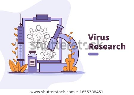 Covid-2019 vaccine research vector concept illustration. Stock photo © RAStudio