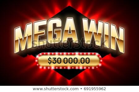 Casino Gambling Machine, Lottery Big Win Vector Stock photo © robuart