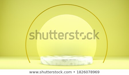 Yellow mock up winner podium circle shapes 3D Stock photo © djmilic
