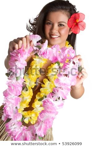 Tropical Lei Woman Stock photo © keeweeboy