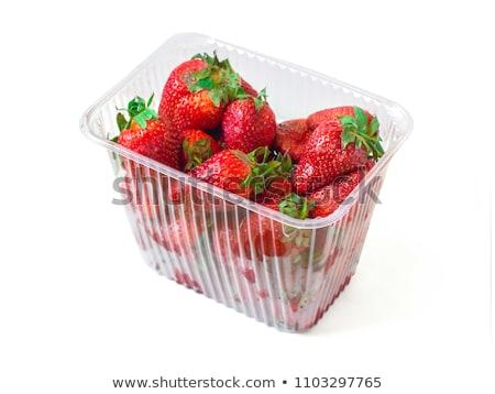 Friss eprek műanyag étel gyümölcs zöld Stock fotó © bdspn
