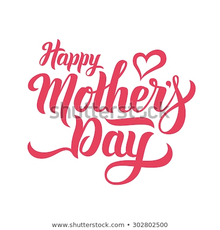 Feliz dia das mães assinar ilustração família feliz natureza Foto stock © bluering