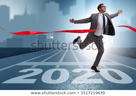 бизнесмен линия гонка человека спорт Сток-фото © Elnur