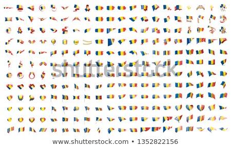 Büyük toplama vektör bayraklar Romanya arka plan Stok fotoğraf © butenkow
