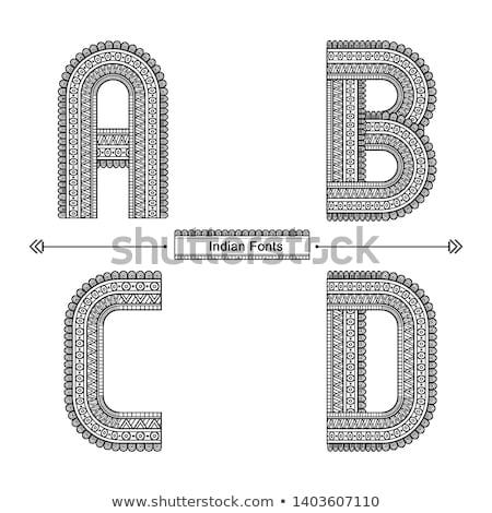 India hand drawn vector doodles illustration. Indian poster desi Stock photo © balabolka