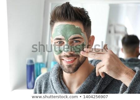 ハンサム 適用 粘土 マスク 顔 女性 ストックフォト © Elnur