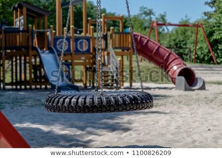 Colorato vuota sabbia piedi parco giochi Foto d'archivio © pixelsnap