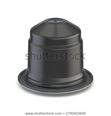 Schwarzer Kaffee Kapseln Unterseite Ansicht 3D Rendering Stock foto © djmilic