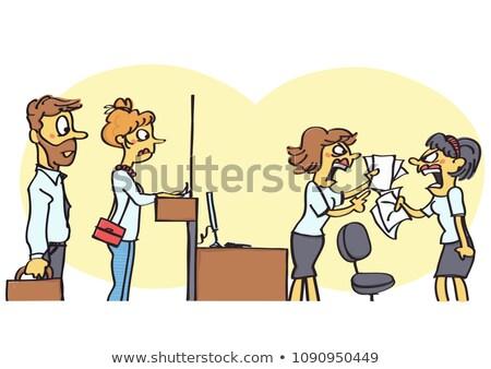 Inappropriate work behavior. Stock photo © iofoto