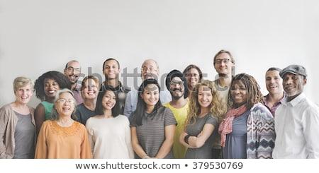 ビジネスマン グループ 孤立した 白 男 黒 ストックフォト © poco_bw