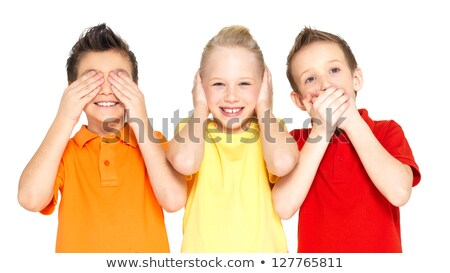 Do not see it, hear nothing, nothing to say. Stock photo © cozyta