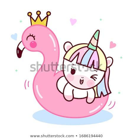 Kawaii condón cute sonriendo colorido Foto stock © sahua