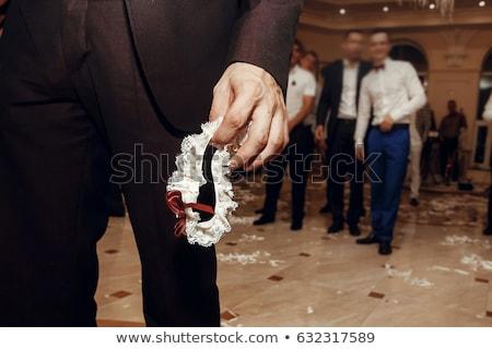 kouseband · bruid · witte · bruiloft · mode · lingerie - stockfoto © sapegina
