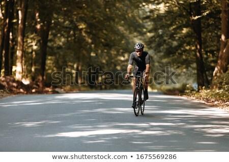 gümüş · bisiklet · kask · yalıtılmış · gri · açmak - stok fotoğraf © leeser