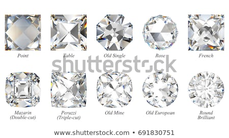 Gemstone: top view of round diamond isolated Stock photo © Arsgera