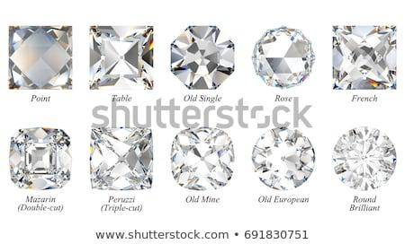 briljant · gesneden · diamant · perspectief · geïsoleerd · witte - stockfoto © arsgera