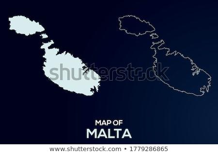 Foto stock: Malta · viaje · mapa · negocios · azul