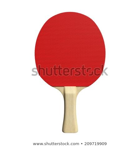 Kırmızı ping pong ahşap işlemek Stok fotoğraf © mybaitshop