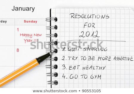 2012 New year goals Stock photo © bbbar