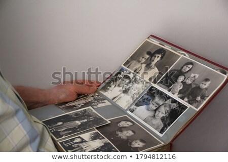 Régi fotó album 1960 háttér keret fotó Stock fotó © latent
