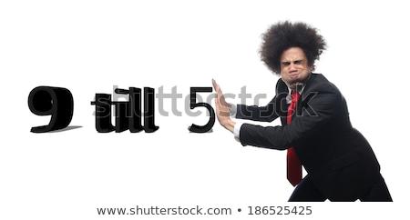 Nine to five job concept Stock photo © lightkeeper